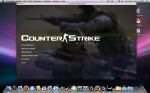 Yes, you can run Steam and Counter Strike:Source on a Mac